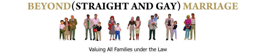 Beyond Straight and Gay Marriage | Valuing All Families Under The Law | Logo